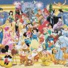 "Disney Panoramic   - 35.43"" x 13.50"" - Cross Stitch Pattern Pdf C681"