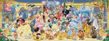 "Disney Panoramic   - 35.43"" x 13.50"" - Cross Stitch Pattern Pdf C681"