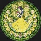 "Snow white stained glass - 19.71"" x 19.14"" - Cross Stitch Pattern Pdf C768"