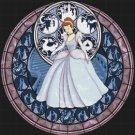 "Cinderella stained glass - 19.93"" x 20.14""  - Cross Stitch Pattern Pdf C768"