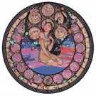 "Pocahontas Stained Glass disney princess - 19.14"" x 19.21""  - Cross Stitch Pattern Pdf C773"