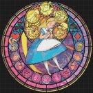 "Alice stained glass - 20.64"" x 20.64""   - Cross Stitch Pattern Pdf C774"