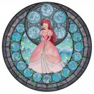 "Ariel stained glass - 19.86"" x 19.86""   - Cross Stitch Pattern Pdf C775"