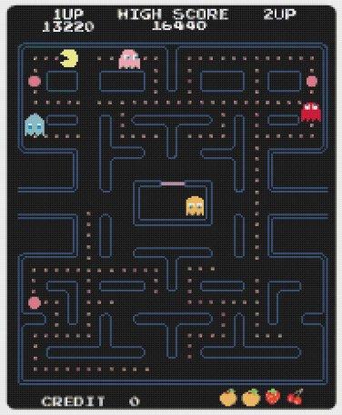 "PacMan level - 13.79"" x 16.79"" - Cross Stitch Pattern Pdf C800"