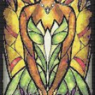 "Princess and the frog stained glass - 8.50"" x 23.64"" - Cross Stitch Pattern Pdf C785"