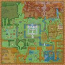 "Zelda a link between hyrule maps - 24.57"" x 24.57"" - Cross Stitch Pattern Pdf C801"