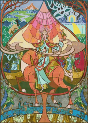"Lord of rings - 19.71"" x 27.57"" - Cross Stitch Pattern Pdf C824"