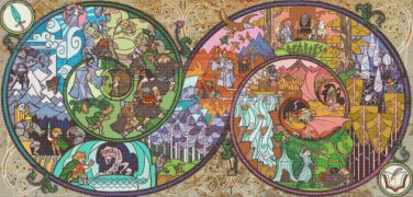 "Lord of rings - 35.43"" x 17.00"" - Cross Stitch Pattern Pdf C826"