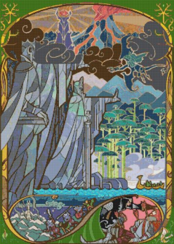 "Lord of rings - 17.71"" x 24.79"" - Cross Stitch Pattern Pdf C827"