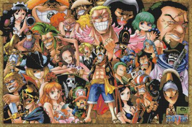 "One pieces - 35.43"" x 23.43"" - Cross Stitch Pattern Pdf C836"