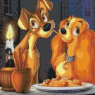 "Lady and the tramp - 23.93"" x 17.71"" - Cross Stitch Pattern Pdf C843"