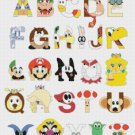 "Alphabet Mario bros - 16.79"" x 20.36"" - Cross Stitch Pattern Pdf C846"