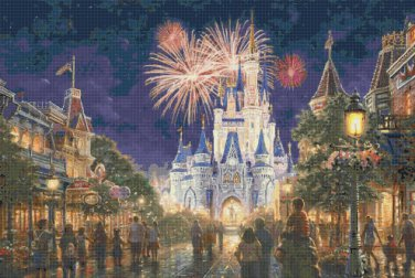 "Main Street Disney Resort - inspirated to Kinkade - 35.36"" x 23.79"" - Cross Stitch Pattern Pdf C889"