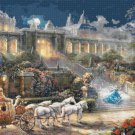 "Cinderella's clock - inspirated to Kinkade - 35.43"" x 24.00"" - Cross Stitch Pattern Pdf C891"