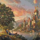 "Beauty and the beast II - inspirated to Kinkade - 35.43"" x 23.93"" - Cross Stitch Pattern Pdf C892"