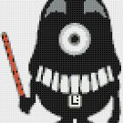 "Minion Darth Vader - 4.93"" x 5.86"" - Cross Stitch Pattern Pdf C902"