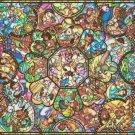 "Disney pattern glass - 35.437"" x 25.11"" - Cross Stitch Pattern Pdf C610"