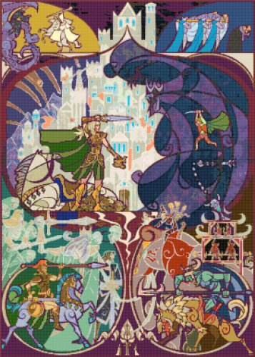 "Lord of rings - 19.71"" x 27.57"" - Cross Stitch Pattern Pdf C1135"
