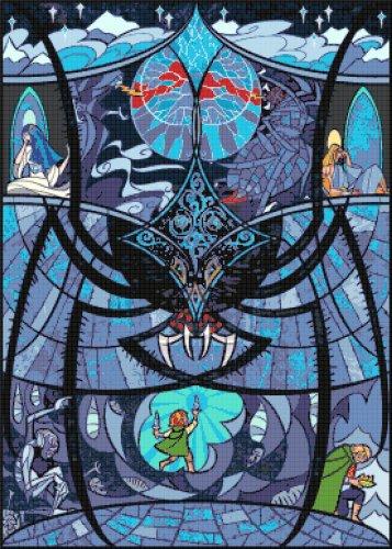 "Lord of rings - 19.71"" x 27.57"" - Cross Stitch Pattern Pdf C1136"