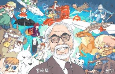 """All characters of Hayao Miyazaki - 35.43"""" x 22.71"""" - Cross Stitch Pattern Pdf C157"""