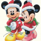 "minni and mickey christmas  - 15.71"" x 19.21"" - Cross Stitch Pattern Pdf C1160"