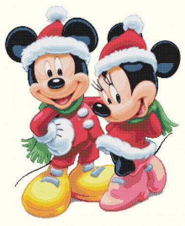 """minni and mickey christmas  - 15.71"""" x 19.21"""" - Cross Stitch Pattern Pdf C1160"""