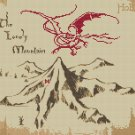 "The Lonely Mountain and Smaug The hobbit - 13.50"" x 10.86"" - Cross Stitch Pattern Pdf C1014"