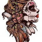 "Sugar Skull dead girl - 8.79"" X 12.43"" - Cross Stitch Pattern Pdf C1181"