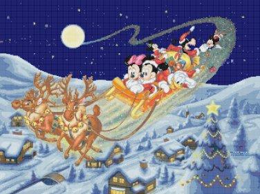 """minni and mickey christmas 2016 - 23.64"""" x 17.71"""" - Cross Stitch Pattern Pdf C1247"""