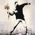 "Banksy - street art - 15.00"" x 14.79"" - Cross Stitch Pattern Pdf C1306"