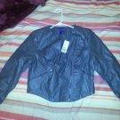 dark grey leather jacket