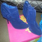 lady's blue heels from charlotte russe