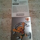 Panini EURO 2004 Number 2 Mascot Foil Sticker Mint