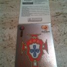 Panini EURO 2004 Number 7 Portugal Foil Sticker Mint