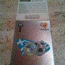 Panini EURO 2004 Number 30 Greece Hellas Foil Sticker Mint