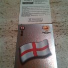 Panini EURO 2004 Number 116 England Foil Sticker Mint