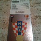 Panini EURO 2004 Number 158 Croatia Foil Sticker Mint