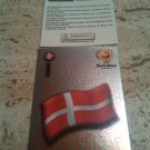 Panini EURO 2004 Number 242 Danmark Foil Sticker Mint