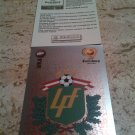Panini EURO 2004 Number 254 Latvia Latvija Letonia Foil Sticker Mint