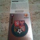 Panini EURO 2004 Number 273 Czech Republic Ceska Republika Foil Sticker Mint