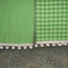 Christmas green cotton Madras Cafe kitchen towels FREE MAILING