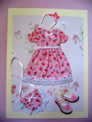 Pink Dress Note Card