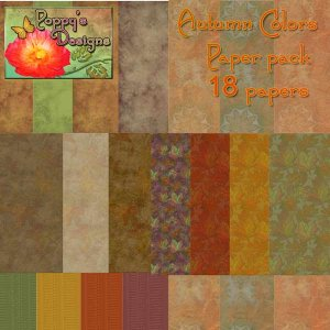 Autumn Color Digital Paper pack, 18 Digital papers