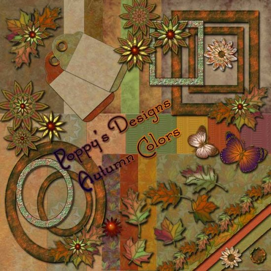 Autumn Colors Digital Scrapbooking Kit