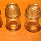 Insulators COLLECTIBLE 4-Clear Glass - Hemingray - Used - Fair Condition