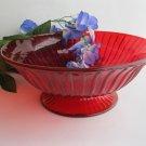 Fenton Ruby Red Bowl Spoke Bowl