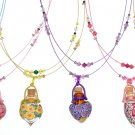 Aroma pendants with double crystal string in assorted colours