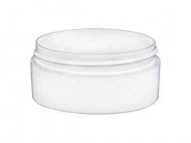 36 piece set of 2 oz. White Thick Wall Plastic Jars with Teal Lids