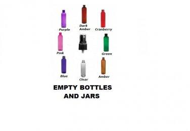 72 piece set of 1 oz PURPLE plastic bottles with black sprayers