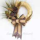 Rustic yet Refined Fall Harvest Wreath with Seed Pods, Burlap Bow